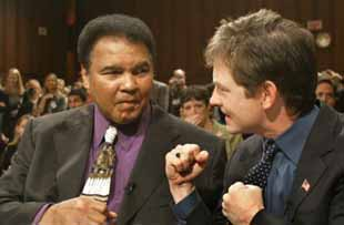 Michael J Fox and Mohammad Ali.